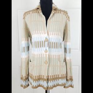 Pendelton Linen Aztec Southwestern Sweater Pockets